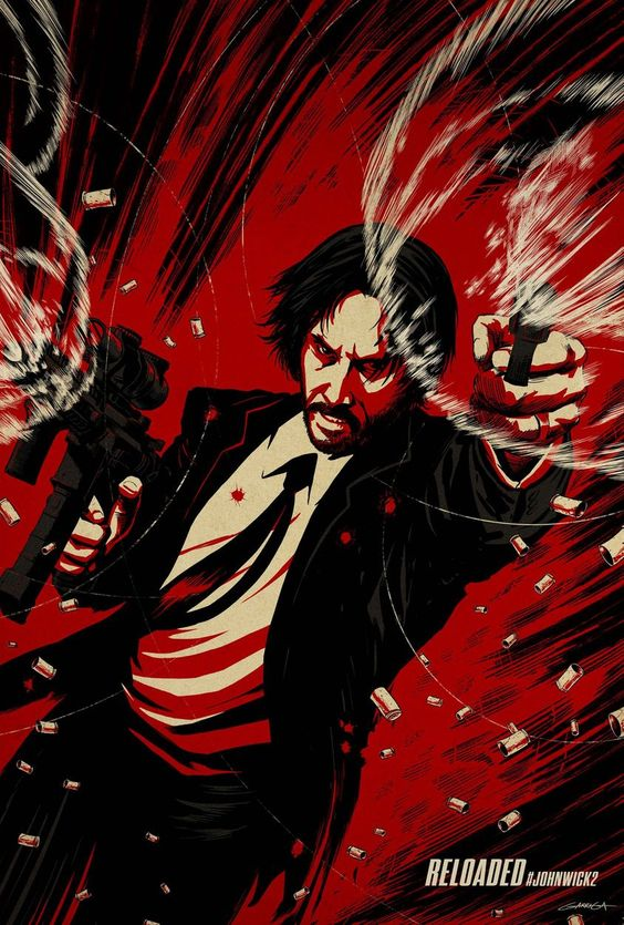 "Artwork by LA    "" Retired super-assassin John Wick's plans to resume a quiet civilian life are cut short when Italian gangster Santino D'Antonio shows up on his doorstep with a gold marker, compelling him to repay past favors."""