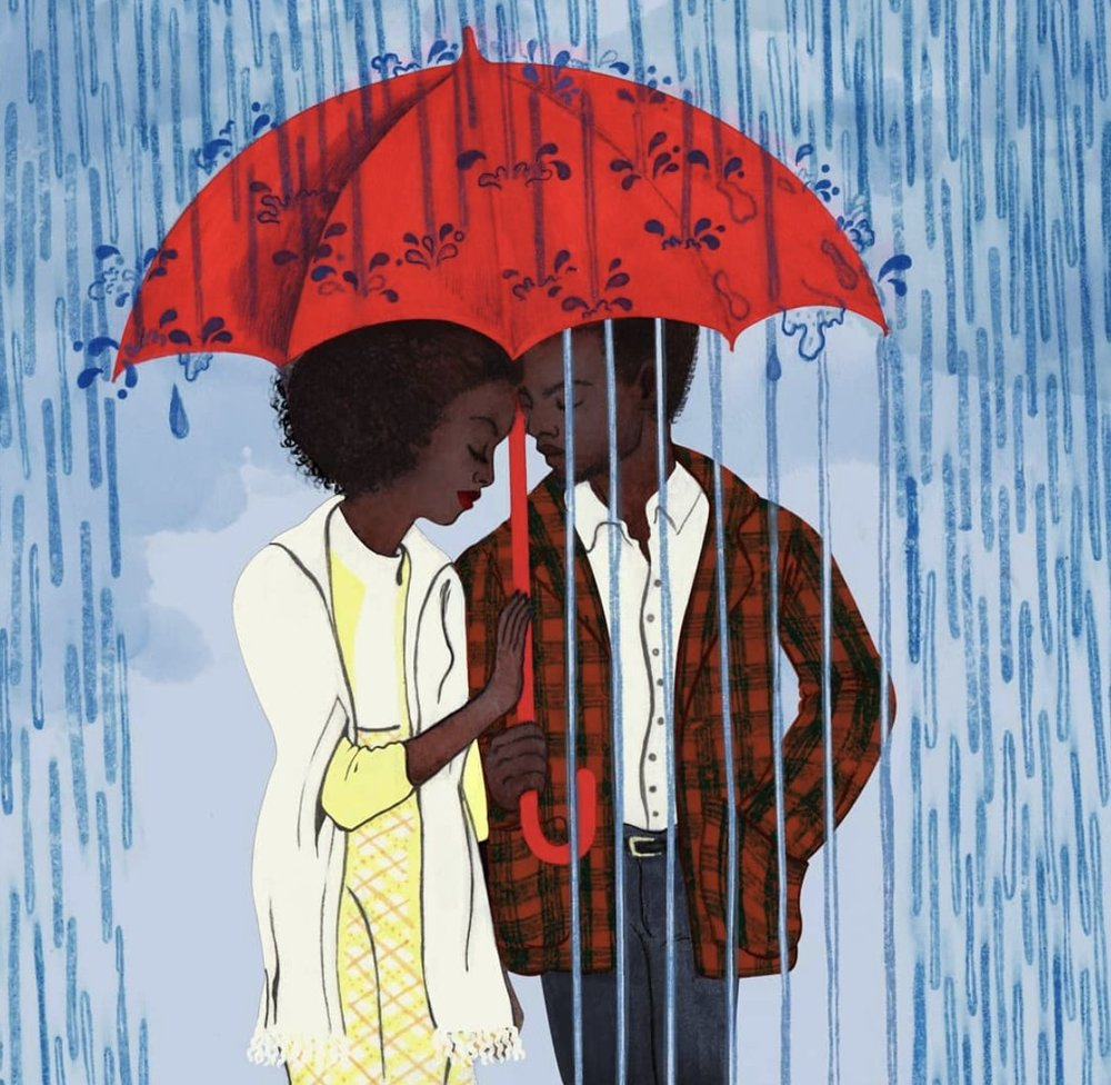 Artwork by Raquel Aparico    In early 1970s Harlem, daughter and wife-to-be Tish vividly recalls the passion, respect and trust that have connected her and her artist fiancé Alonzo Hunt, who goes by the nickname Fonny. Friends since childhood, the devoted couple dream of a future together, but their plans are derailed when Fonny is arrested for a crime he did not commit.