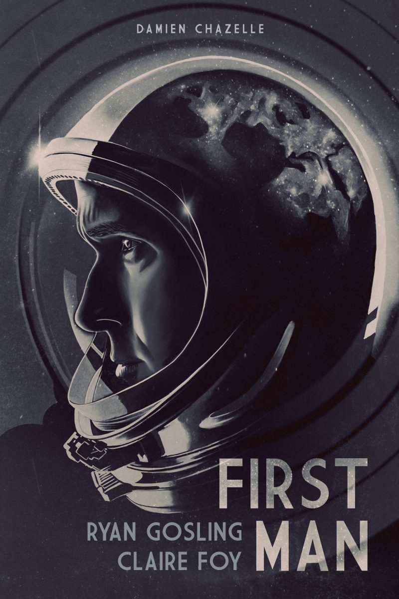 """Artwork by Caroline Veremir    """"The story of NASA's mission to land a man on the moon, focusing on Neil Armstrong and the years 1961-1969."""""""