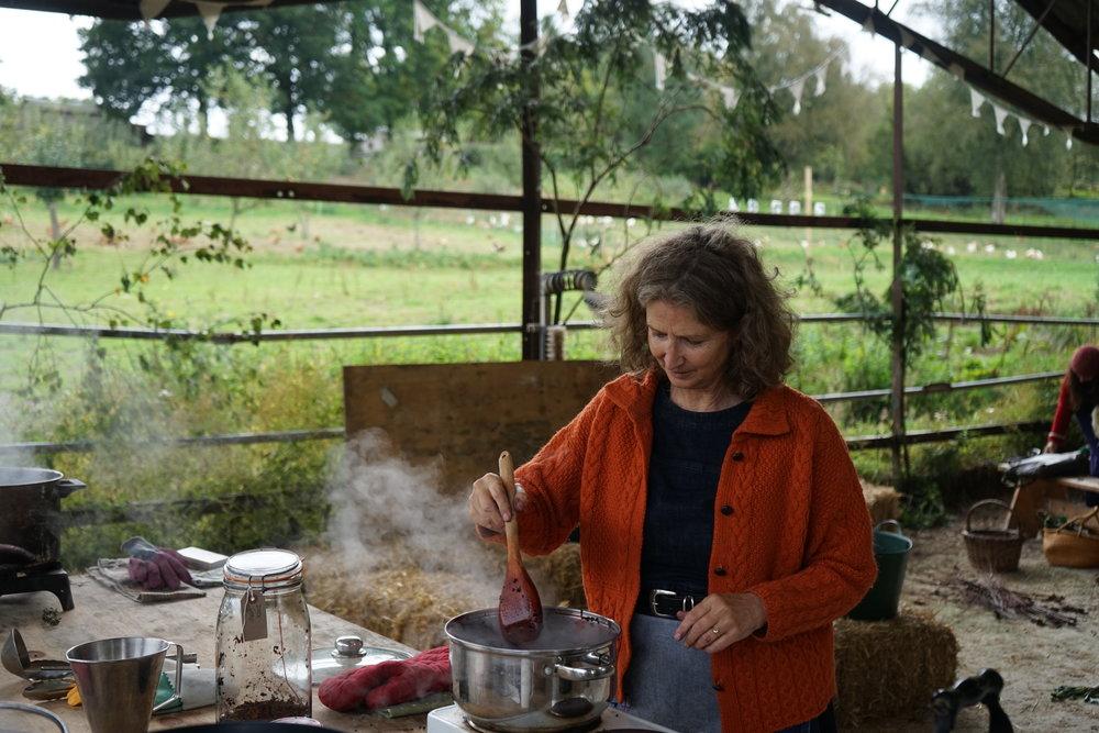 Deborah stirring