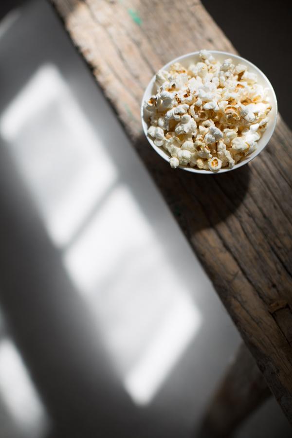 Light Study: Unedited salted maple popcorn