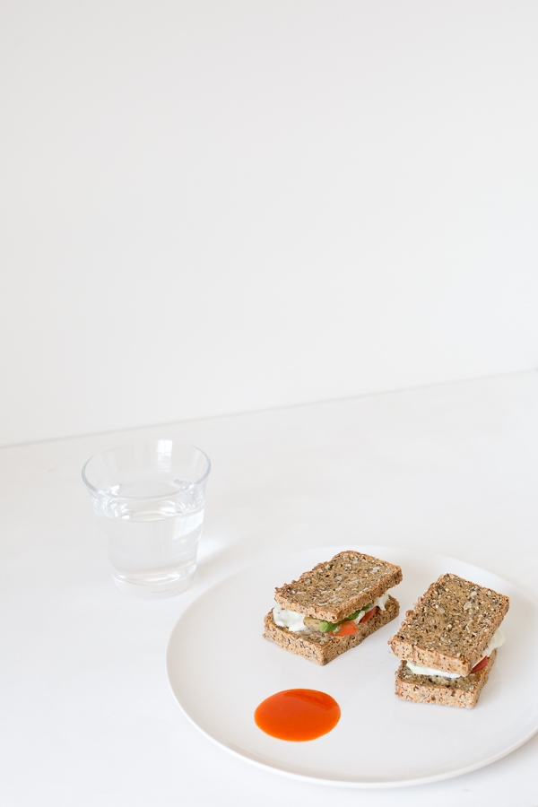 Snapshots: A gluten-free sandwich and water