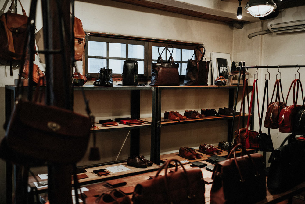 Sot Omote Sando Tokyo hand-made leather goods