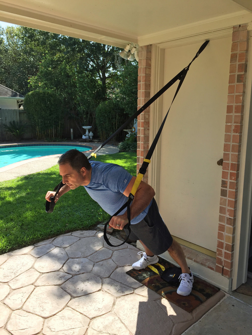 TRX will really challenge your limits with just the weight of your own body