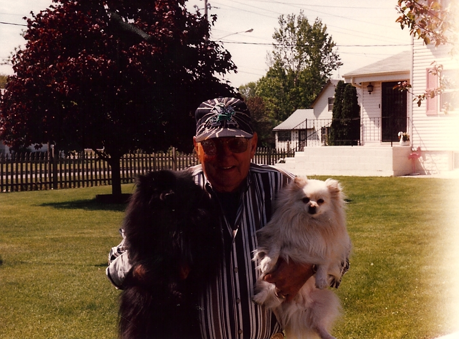 "Father-in-Law with his dog ""Bear"""
