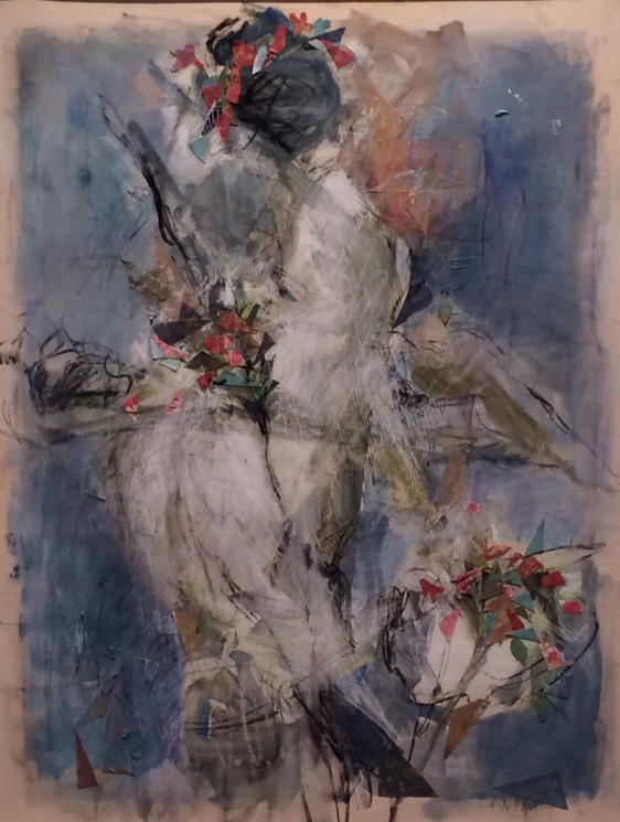 Study in Blue (Girl with Flower Basket)