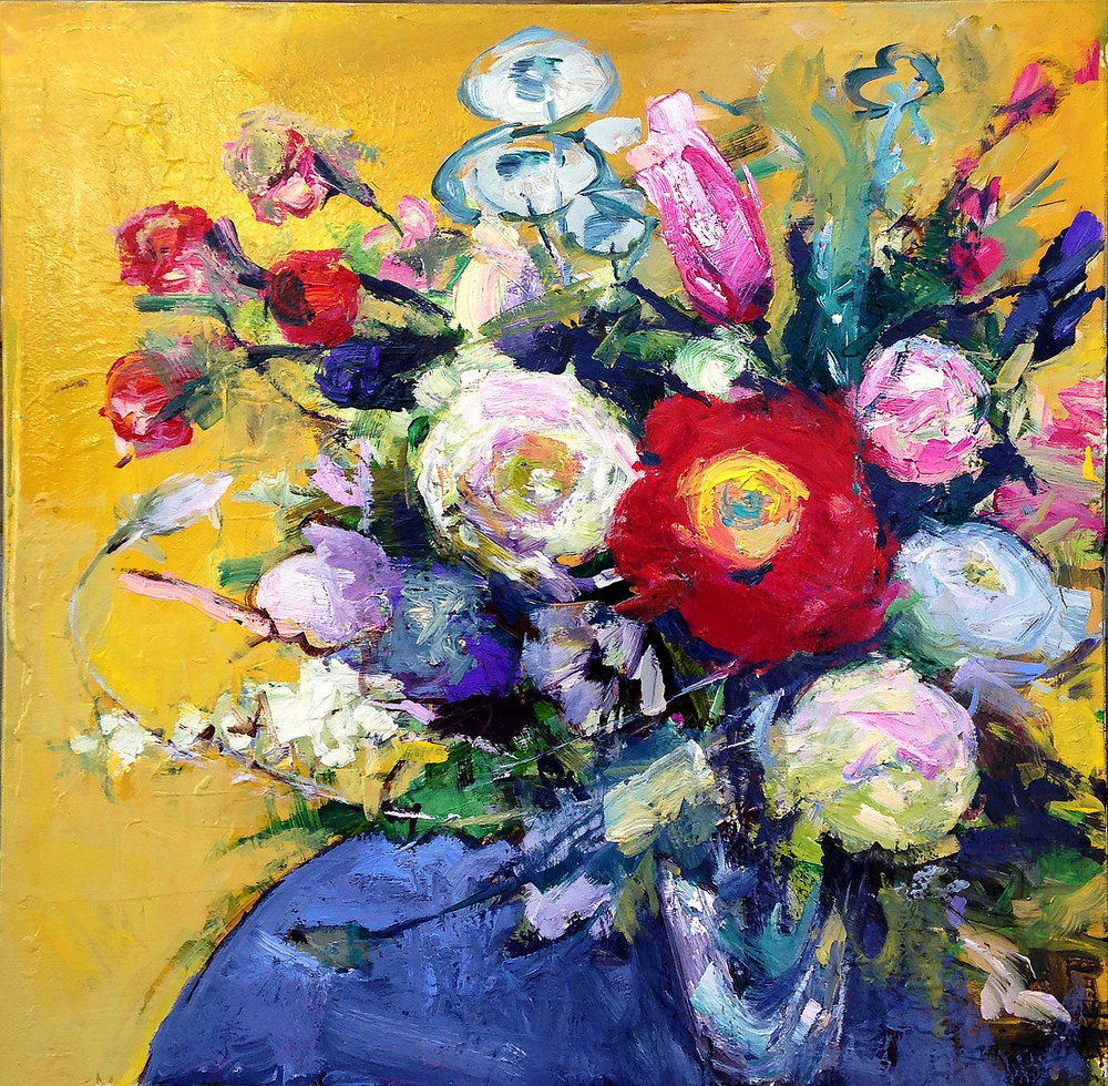 Bouquet on Yellow