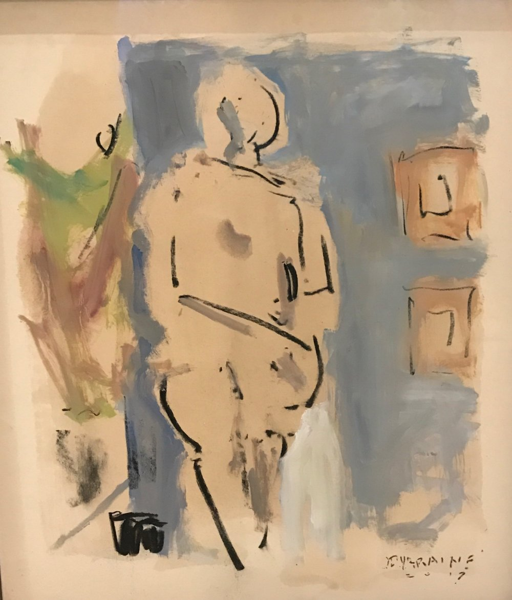 Nude with Blue