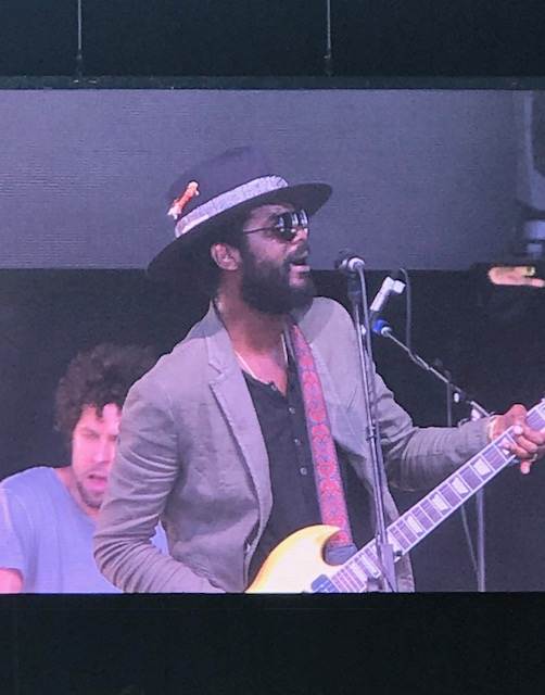Gary Clark Jr. performs ar  The Oaks  stage.