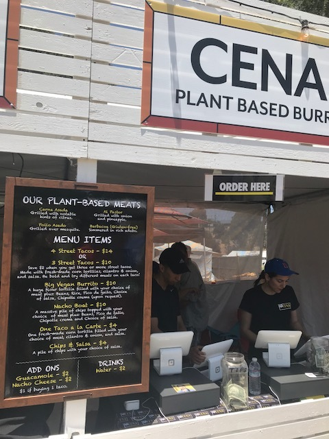 The menu from vegan favorite  Cena Vegan .