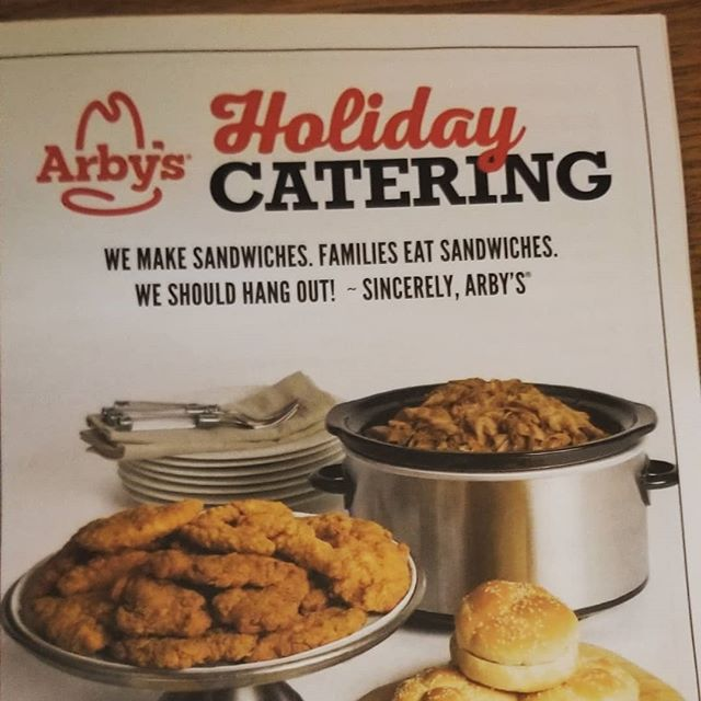 Arby's is the person you hooked up with when you went home for Christmas last year trying to make it a twofer