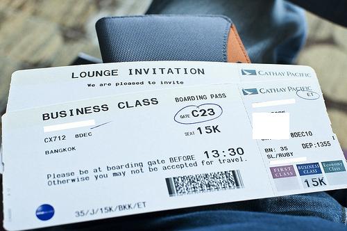 Business Class Flight Ticket