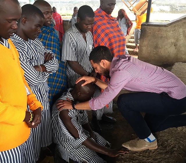 """This man along with 8 other prisoners, accepted Jesus Christ as Lord and savior.  This is in one of the worst prisons in Kenya, Africa. These men may still be bound physically, but in the spirit every chain was broken and they are set free in Jesus! This is something only God can do!"" - @tonyperalta53"