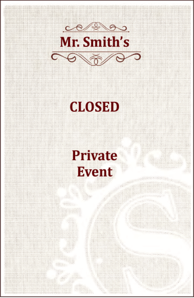 Mr. Smith's closed private event flyer screen shot.png
