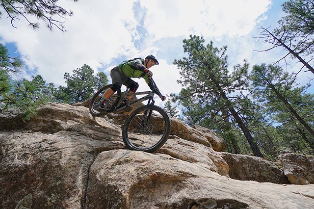 "Glorieta is a mountain biker's dream. Finally rode this ledge I'd been eyeing for way too long today... pics never do it justice but for a guy who's nickname was ""Mr. Safety"" as a kid it was quite the ride. Big thanks to @nickelhunt for leading the way #mtb #newmexico"