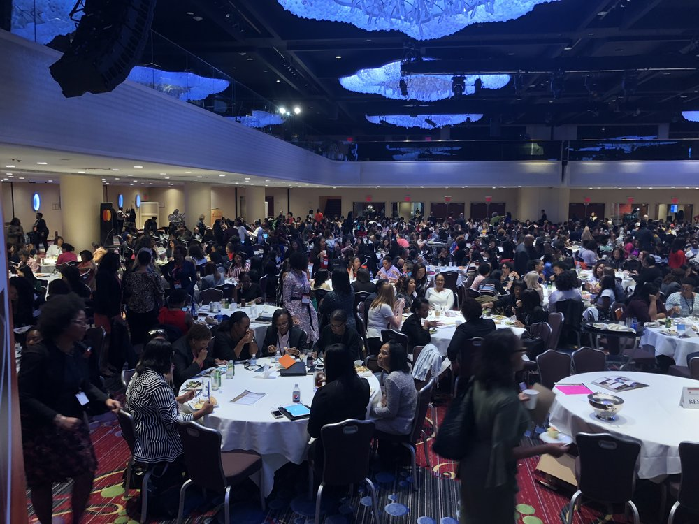 A ballroom of women of color attorneys