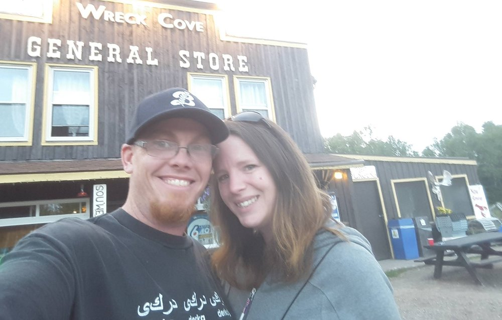 Brent Partland & Jenn Rhodes - carrying on the legacy of the Wreck Cove General Store as owners since 2014.