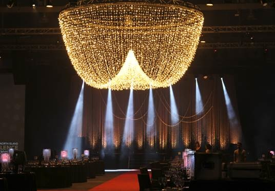 grand fairy light chandelier *install only POA  6m across