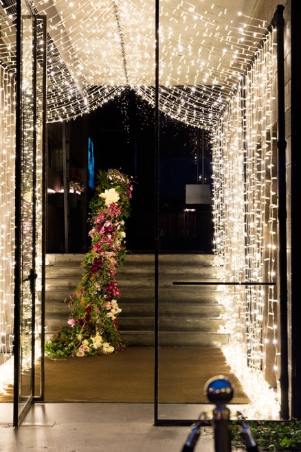 string light entrance extravagence