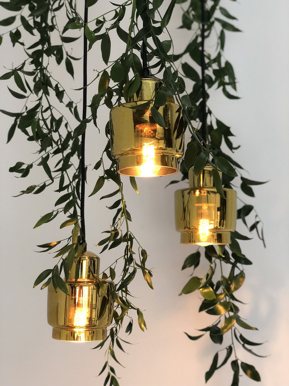 antique gold glass pendants  200mm  $75+gst *install only