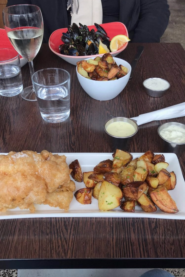 Okay I'm going to be honest, I don't know when we went to this restaurant. Icelandic Fish and Chips was the name of it, and we went twice because it was so good. I got just fried fish and potatoes, but the fish didn't feel gross or oily. It was so fresh and delicious, and came with many aiolis.