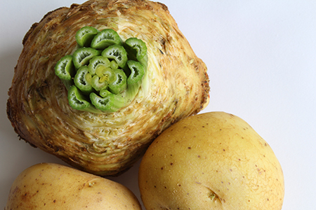 Celery root with potatoes