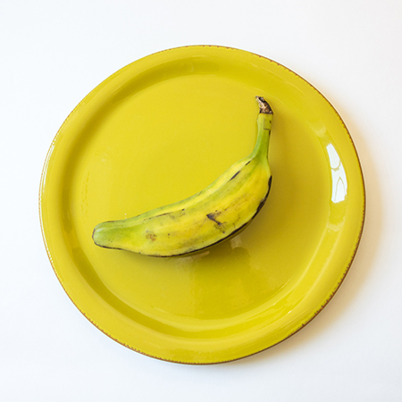Banana on a Yellow Plate, ready for that Michael's frame