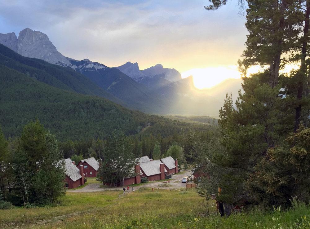 A view towards the Three Sisters mountain peak in Kananaskis, Alberta Canada. One of many inspiring 'big' mountains.