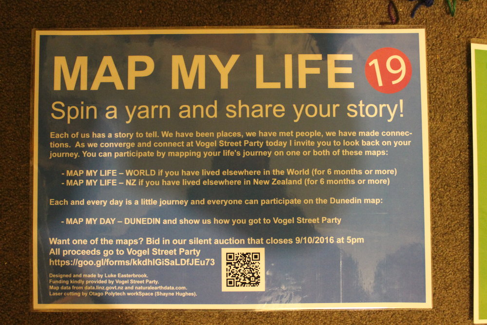 Map my life signage