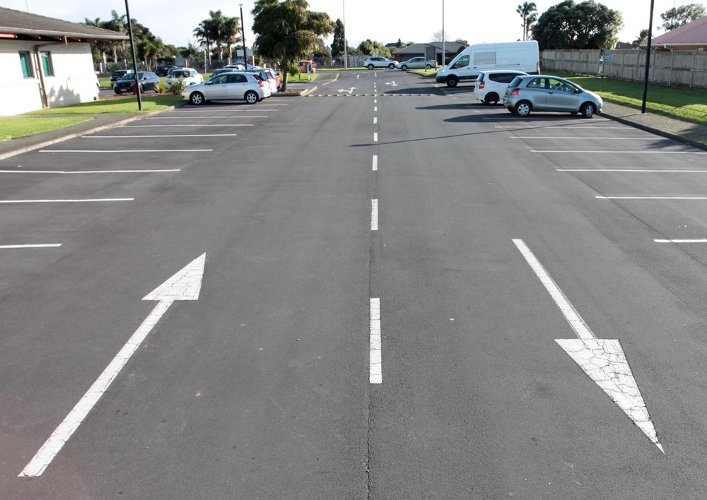 Car Park Carpark White Lines Arrow