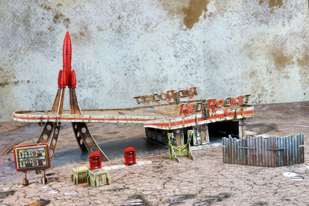 Red Rocket Scenic Set
