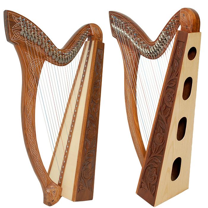 Minstrel Harp, 27 Strings, Celtic Harp, Rosewood Harp.JPG