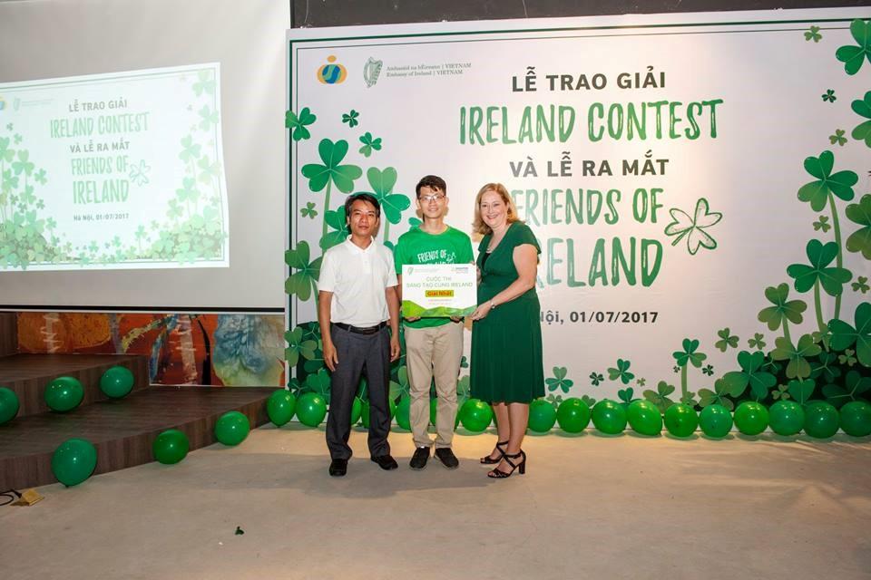 Bạn Nguyễn Thế Tiến Đạt - quán quân của cuộc thi Ireland Contest 2017
