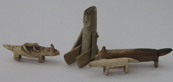 A set of Inuit animal carvings from Alaska