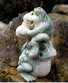 Japanese netsuke carving of Kappa