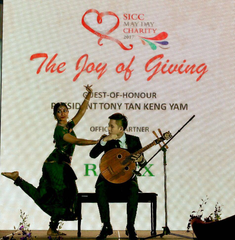 SICC May Day Charity 2017_Neil Chua and Priyadarshini Nagarajah Performing The Sword 剑器