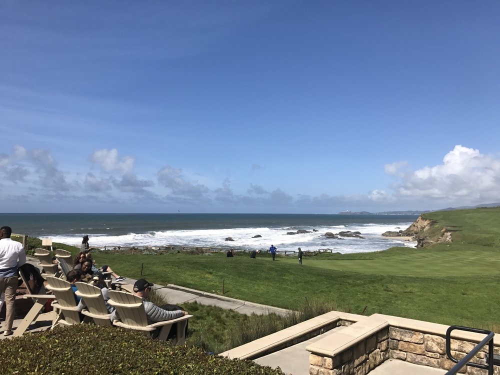 Fun at the Ritz Carlton at Half Moon Bay before the wedding