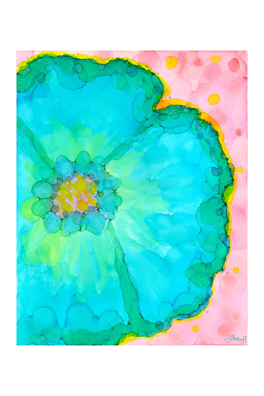 Dreamy Blue Daisy - Art Print on Paper or Canvas