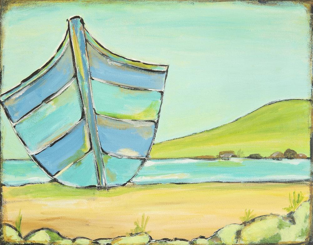 Beached Series - Bluesy Boat