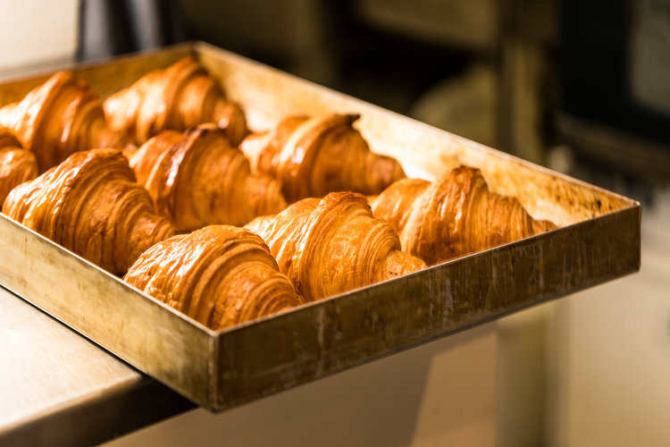 Fresh out of the oven. Some of Harvest's AMAZING croissants.