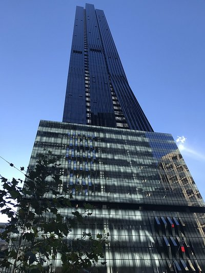 This building is 228 metres tall... Exactly how far underground you go. Image By MelbourneStar - Own work, CC BY-SA 4.0, https://commons.wikimedia.org/w/index.php?curid=59173452