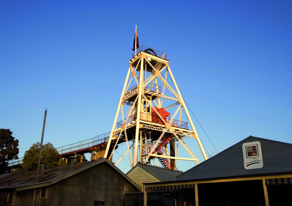 You can't miss it! The Central Deborah Mine & Poppet Head.Photo Credit: Explore Bendigo & Bendigo Tourism