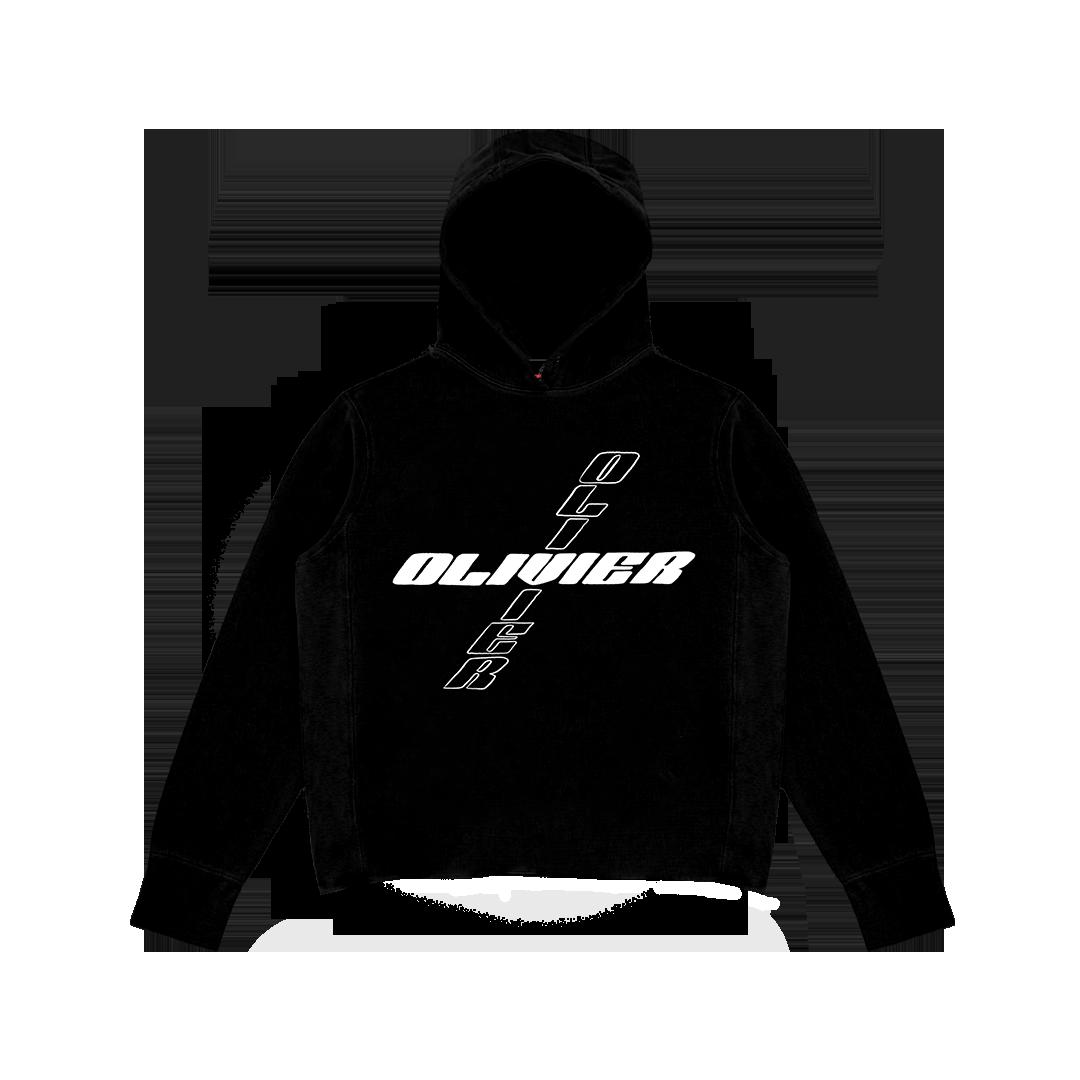Black OLIVIER Hoodie — OLIVIER