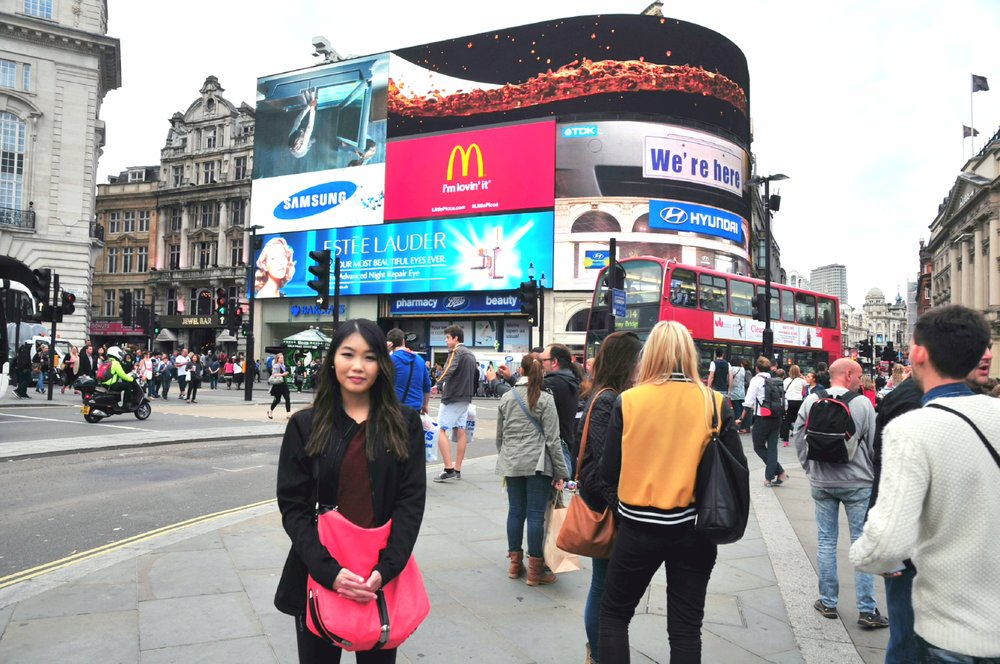 Me at Piccadilly Circus, 2014 | ebbony&lune