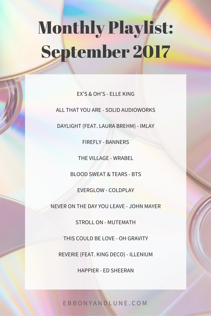 Monthly Playlist: September 2017