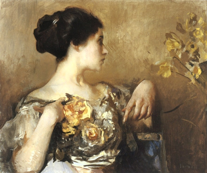 Lady with a Corsage , Edmund C. Tarbell (1911)