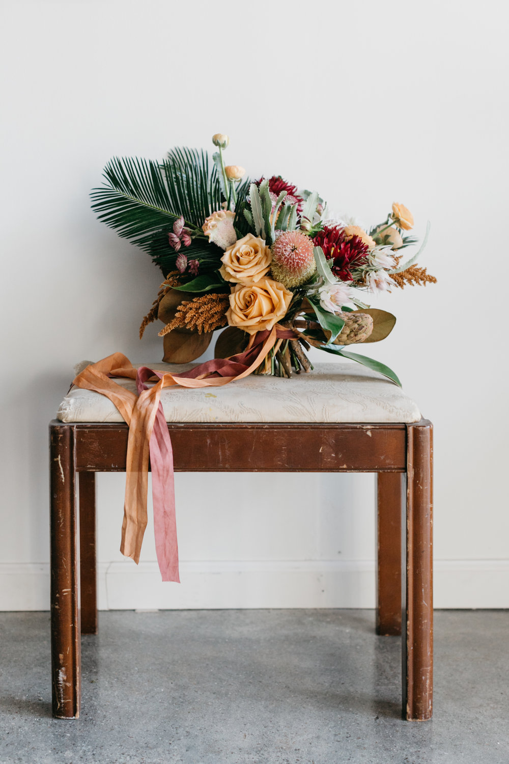 Bouquets + Boutonnieres - We believe the smallest touches make the biggest impacts, so all our bouquets are made with the setting, the dresses and the feel in mind. Then all the boutonnieres and corsages are made to compliment.