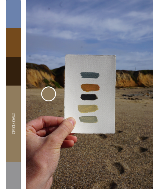 Palette made using coolors.co