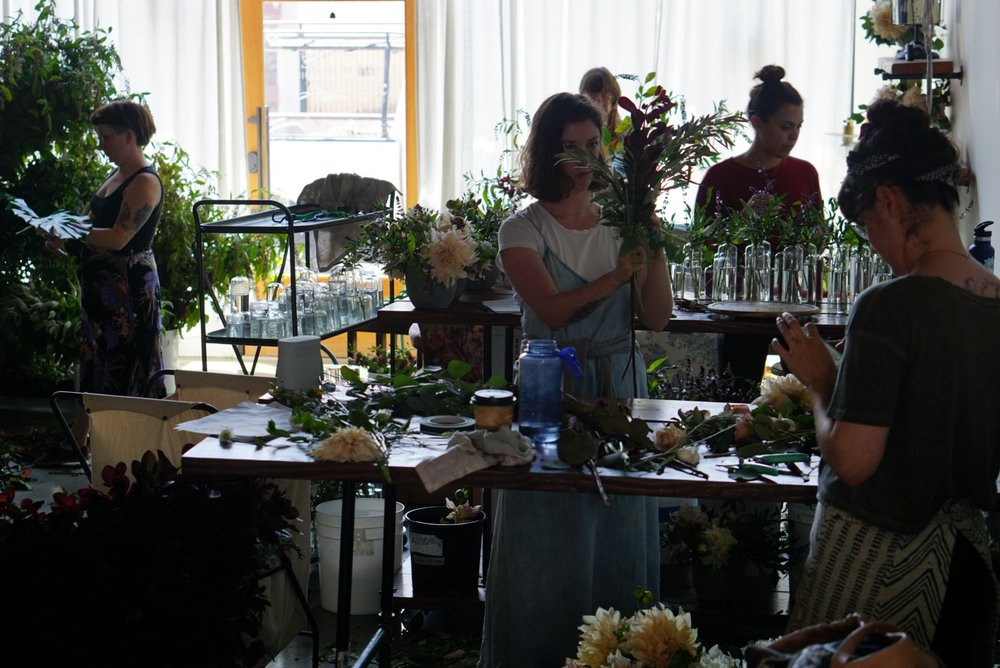 + Free Flower School - In a flower 'Dojo' model, volunteers are given hands on design experience repurposing wedding flowers for donation. This six month program is designed to give students the experience needed for a career in the floral industry.