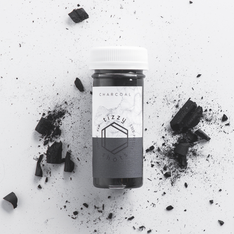 Tizzy Shots flavor Activated Charcoal